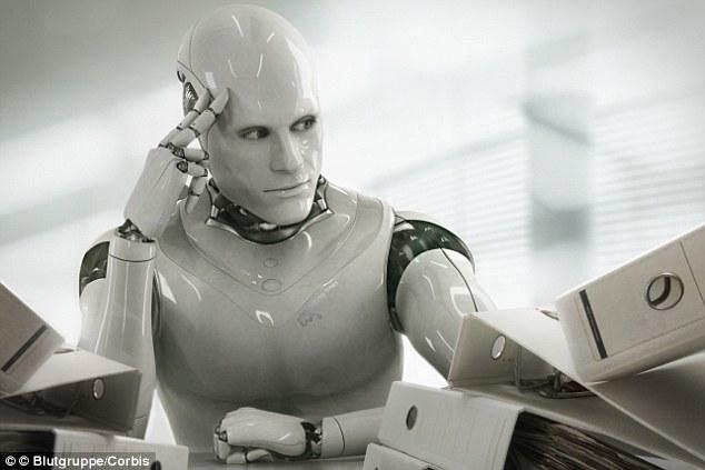 Ilustrasi robot pengacara (Daily Mail)