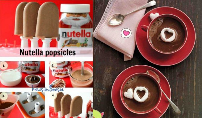 Es Krim Nutella dan Hot Chocolate @kreasiindonesia-(instagram.com)