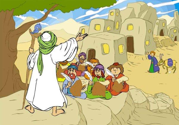 Ilustrasi dakwah Nabi Idris AS (Deviantart)