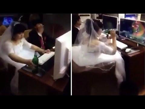 Gokil! Sesudah Ucapkan Janji Suci Pernikahan, Pasangan Ini Langsung Honeymoon di Warnet