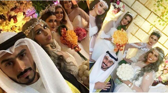Heboh! Pemuda Ganteng Ini Gelar Pernikahan Dengan 4 Wanita Sekaligus
