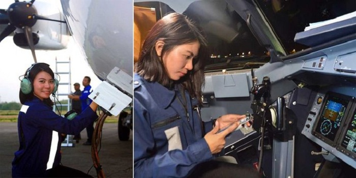 Citra Chasanah, Teknisi Pesawat Cantik yang Jadi Berita