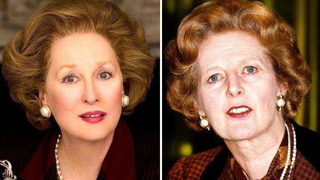 Margaret Thatcher (kanan) dan Meryl Streep (Merdeka)