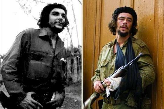 Che Guevara (kiri) dan Benicio del Toro (Mycheguevara)