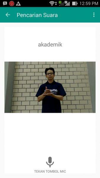 Aplikasi belajar bahasa isyarat (Merdeka)