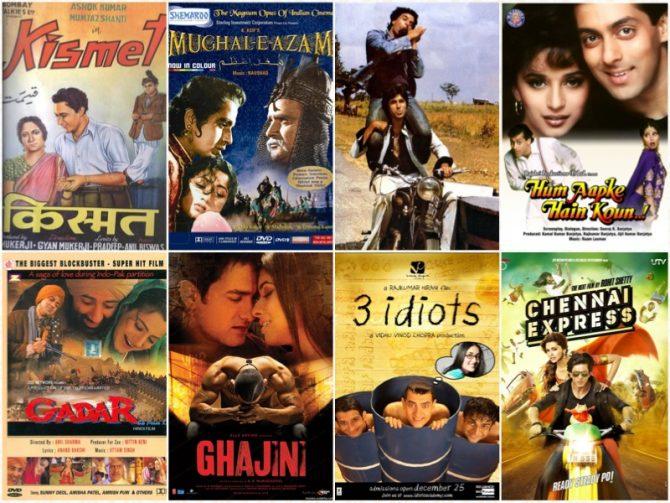 Film-film Bollywood (Indicine)