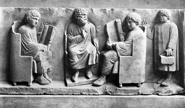Ilustrasi pendidikan Romawi Kuno (Crystalinks)
