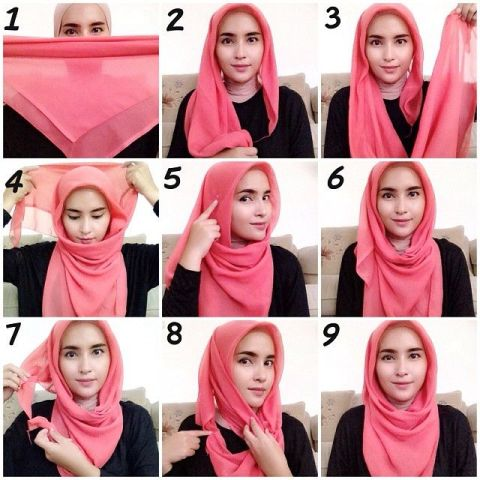 Square Simple Hijab (stylearena.net)