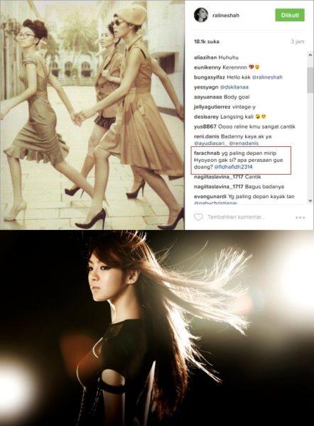 Raline disebut mirip Hyoyeon SNSD