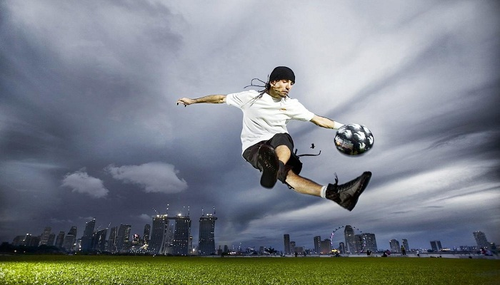 Video 5 Aksi Freestyler Amatir yang Tandingi Bintang Sepak Bola