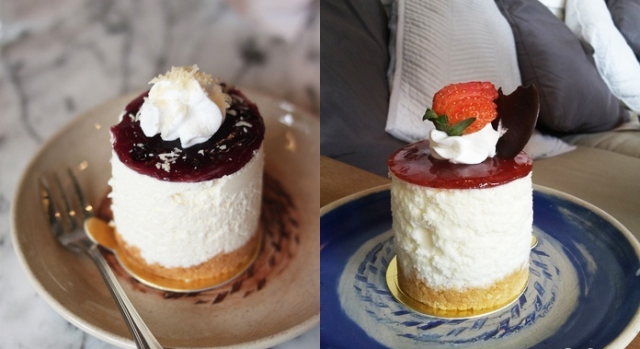 Blueberry Cheese Caake dan Strawberry Cheese Cake (pergikuliner.com)