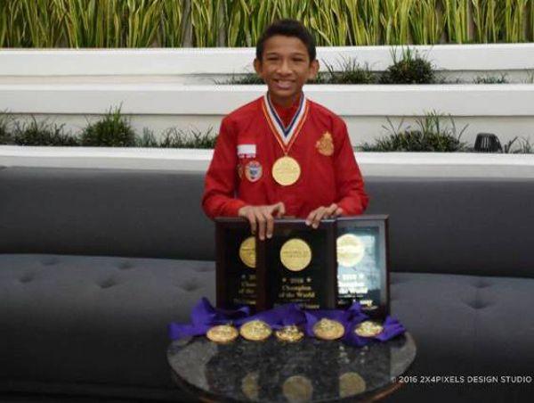 Canho dan medali yang didapatkannya (IST)
