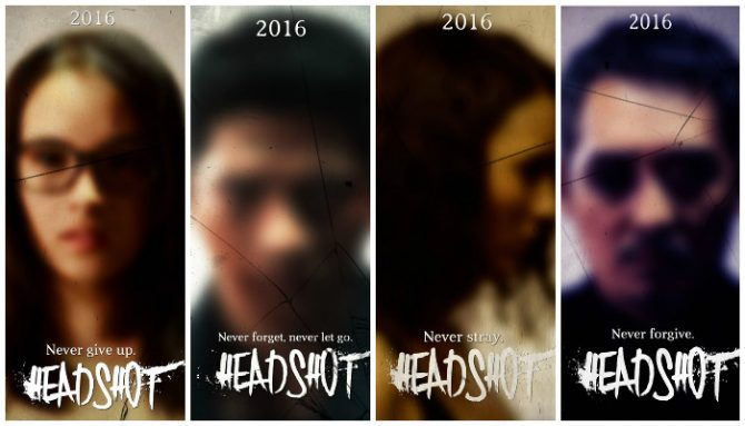 Variasi poster film Headshot (Muvila)