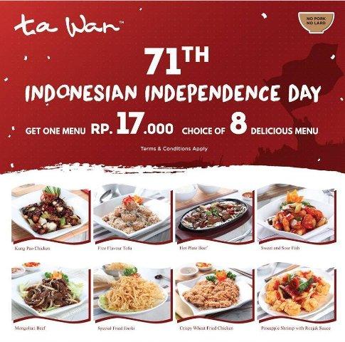 Promo 17 Agustus di Tawan (qraved.com)