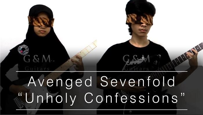 Gokil, Duo Gitaris Indonesia Ini Cover Lagu Avenged Sevenfold dengan Mata Tertutup