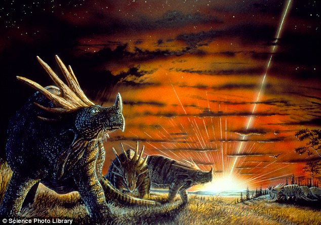 Asteroid menimpa Bumi (Daily Mail)