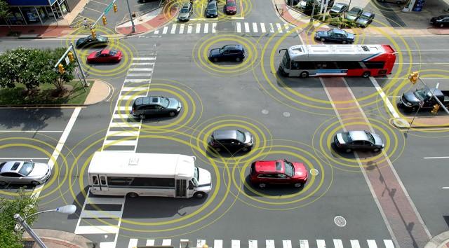 Ilustrasi Car-to-car Communication (Extremetech)