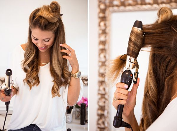 Menggunakan pengeriting rambut (www.pinterest.com)