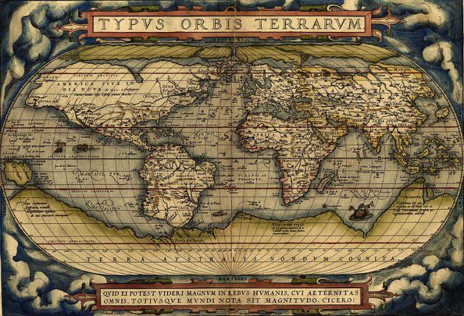 Peta dunia tahun 1570 (Wikipedia)