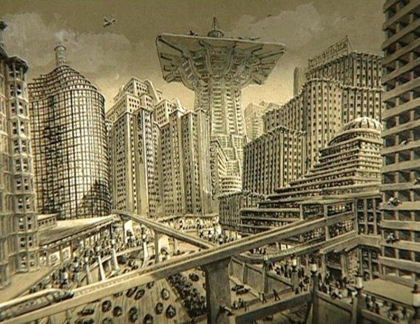 Suasana kota futuristik film Metropolis (Twitter)