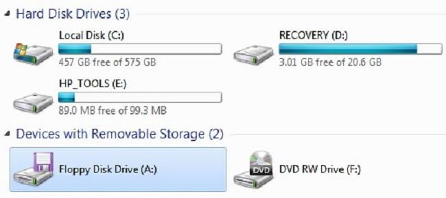 Drive A untuk disket (Winpoin)