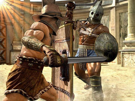 Duel gladiator (History)