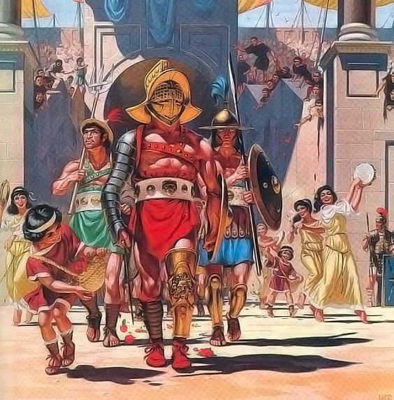 Gladiator memasuki arena (History)