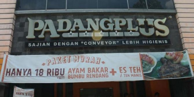 Restoran Padang Plus (Tribunnews)