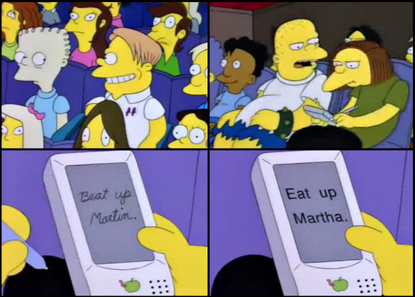 Auto Correct dalam serial The Simpsons (Twitter)
