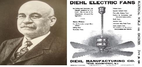 Kipas angin langit-langit temuan Philip H. Diehl (Penemu)