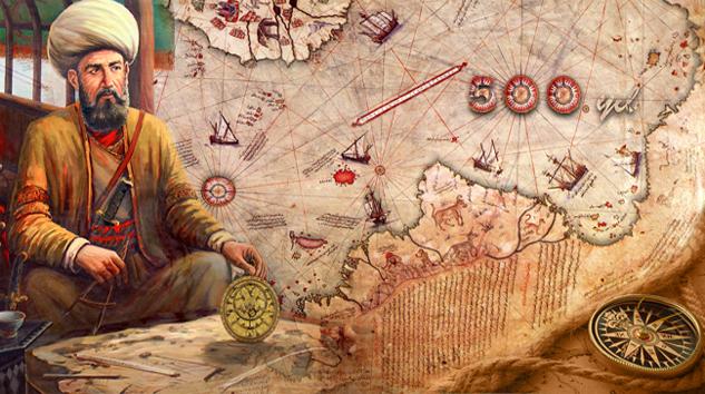 Piri Reis membuat peta dunia (Gundemadana)