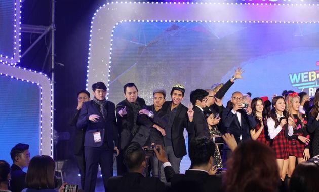 Reza Arap dalam ajang WebTvAsia Awards 2016 (Kapanlagi)