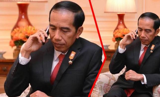 Tak Hanya Jaket Bomber, Ponsel yang Dipakai Jokowi Juga Ikonik