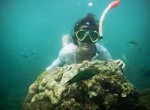 Snorkeling di Pulau Bidadari (instagram.com)