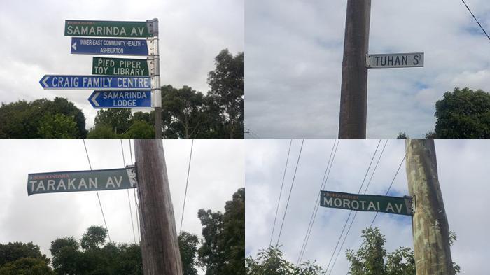 Potret Sejumlah Jalan di Australia Pakai Nama Kota Indonesia