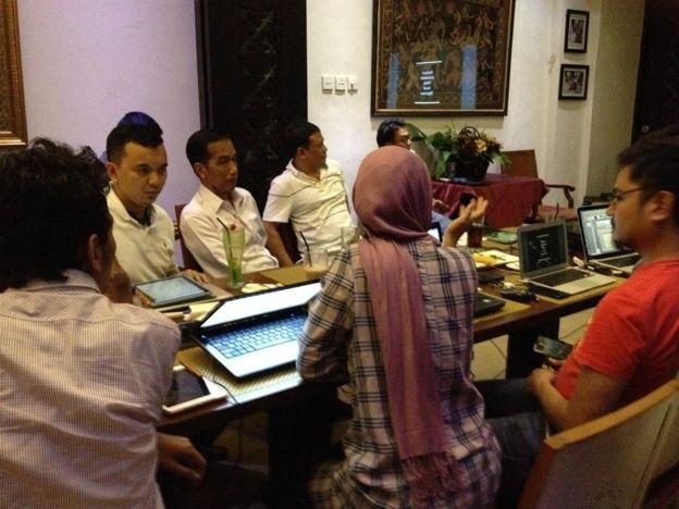 Marina menjadi tim sukses calon Presiden Joko Widodo dalam Pilpres 2014 (BBC)