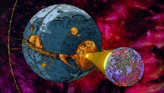 Unicron dalam bentuk planet mengincar bumi (Sequart)