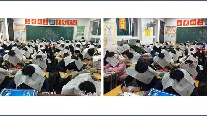 Begini Cara Unik Sekolah Tiongkok Cegah Murid Menyontek