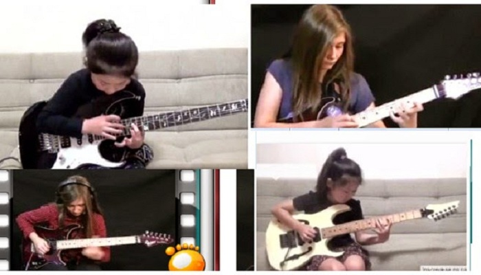 5 Gitaris Cilik Perempuan yang Hebohkan Dunia