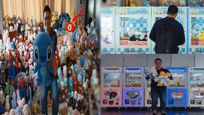 Gokil, Pria Ini Bisa Dapat Ribuan Boneka dari Mesin Capit