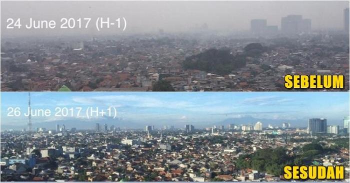 Potret Langit Jakarta yang Makin Indah Setelah Lebaran Jadi Berita