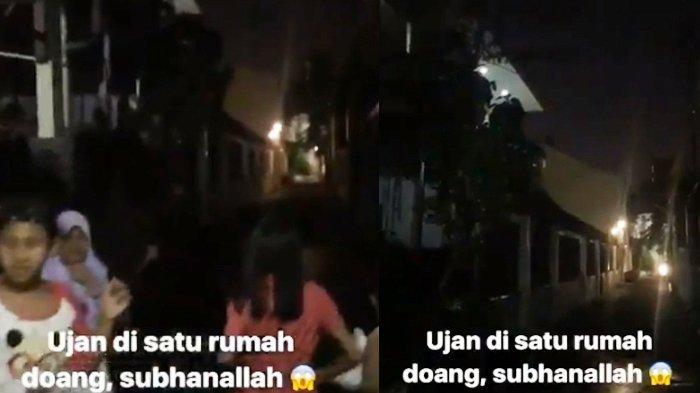 Video Hujan Cuma Guyur Satu Rumah di Tebet Jadi Berita