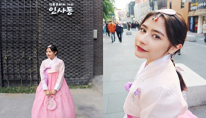 Anggunnya Artis Cantik Indonesia Pakai Baju Ala Korea