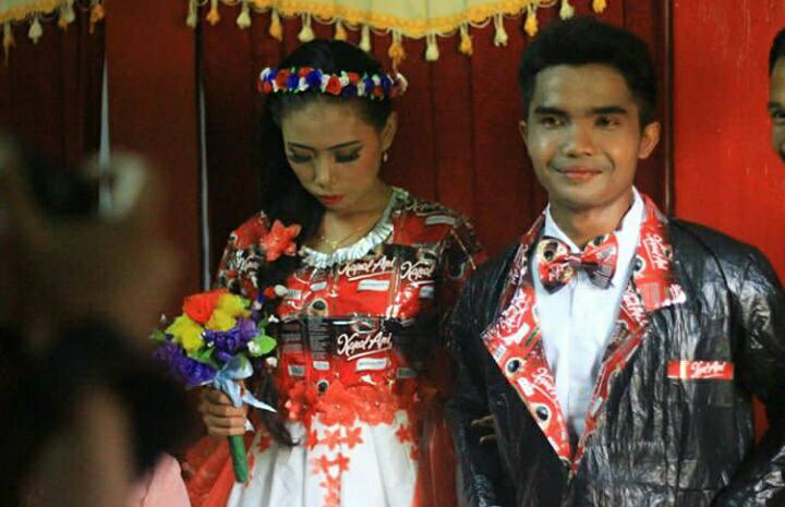Gelar Pernikahan dengan Tema Daur Ulang, Pasangan Asal Banjarnegara Ini Jadi Berita