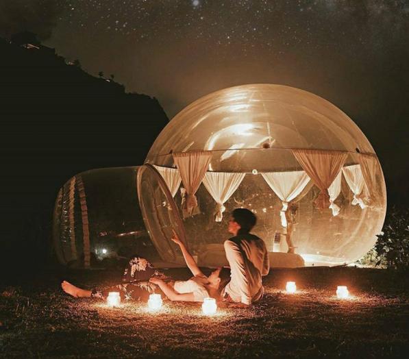 Seperti Islandia, Ada Wisata Romantis Menginap Dalam Bola Bubble Bali yang Jadi Berita