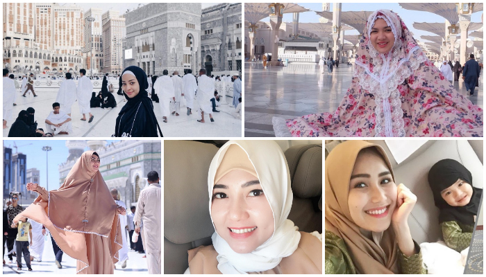 Biasa Kasual, 5 Artis Ini Tampil Makin Cantik Pakai Busana Muslimah Saat Umroh