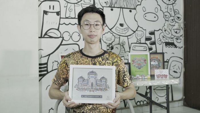 Jualan Doodle Art Karya Sendiri, Cowok Ini Sukses Raih Penghasilan Rp 10 Juta Per Bulan