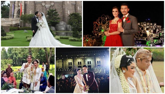 Bukan di Gedung, 5 Pasangan Seleb Ini Memilih untuk Nikah di Tempat Wisata