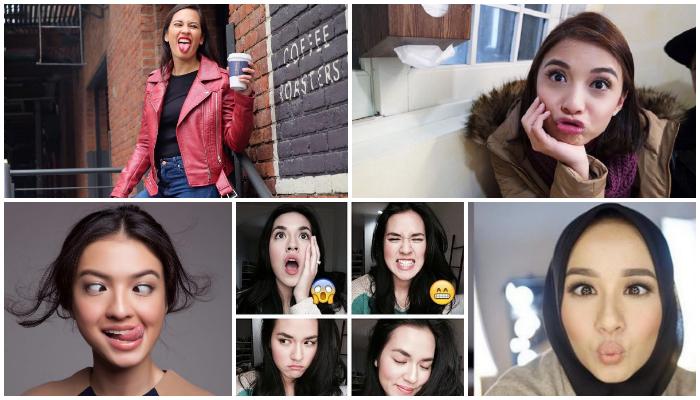 5 Seleb yang Pasang Muka Jelek di Instagram, Masih Cantik?