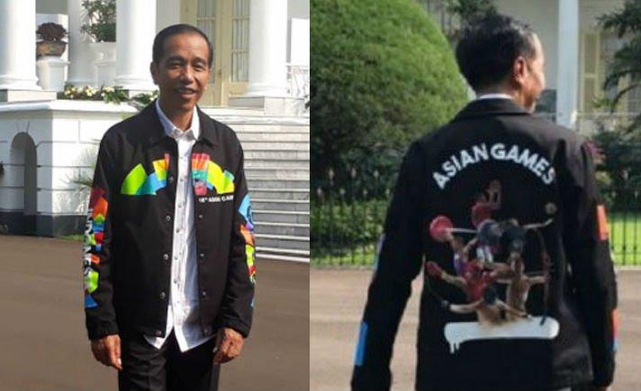 Jaket Baru Presiden Joko Widodo Bertuliskan Asian Games Jadi Berita, Siapa Desainernya?